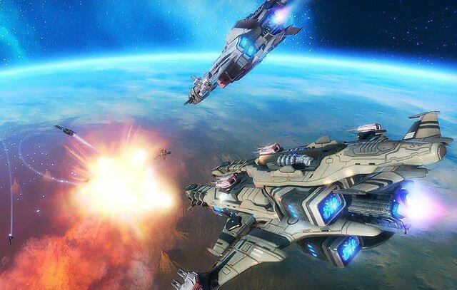 Клиентская онлайн игра космос